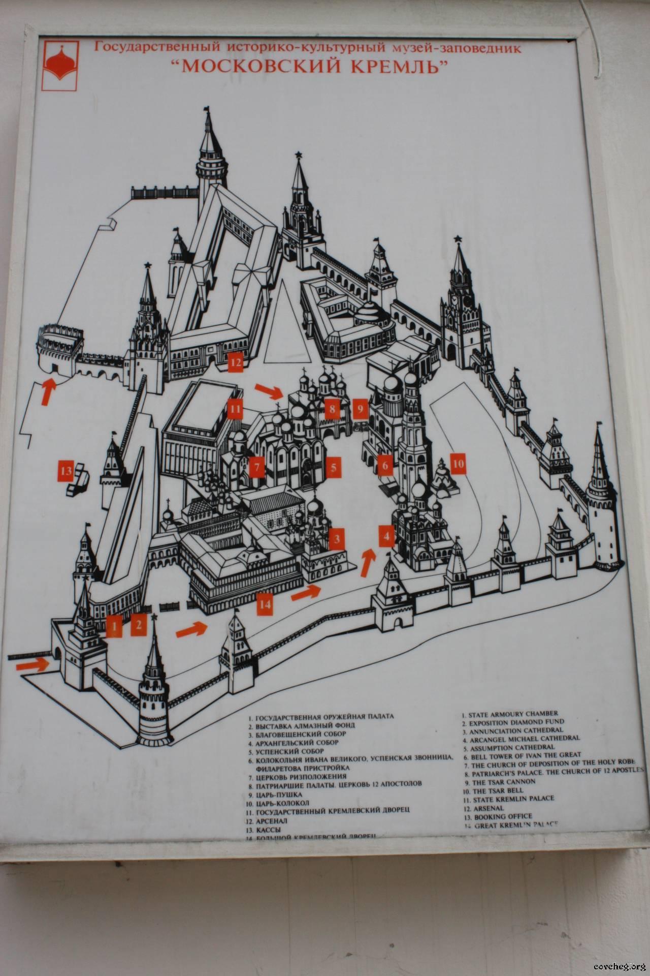 Рисунок схему московского кремля